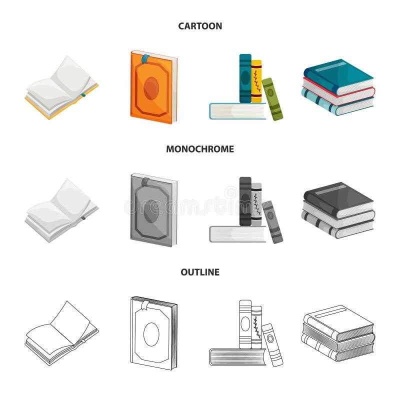 Wektorowa ilustracja szkolenia i pokrywy ikona Set szkolenie i bookstore akcyjny symbol dla sieci royalty ilustracja