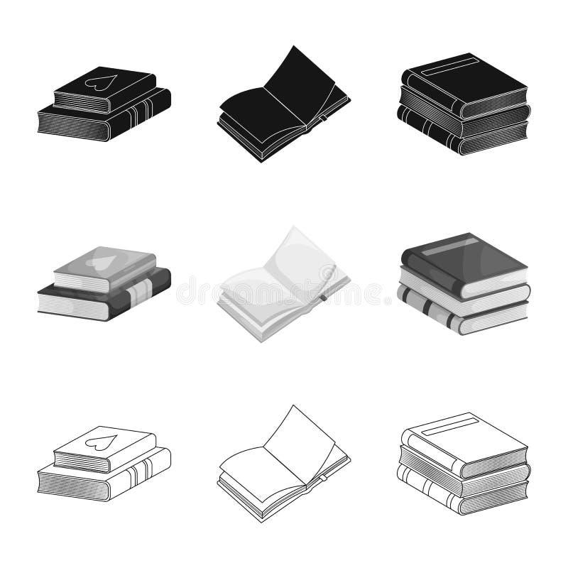 Wektorowa ilustracja szkolenia i pokrywy ikona Set szkolenie i bookstore akcyjny symbol dla sieci ilustracji