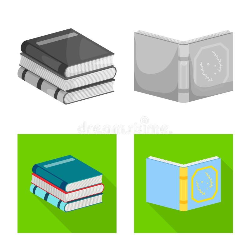 Wektorowa ilustracja szkolenia i pokrywy ikona Set szkolenie i bookstore wektorowa ikona dla zapasu royalty ilustracja