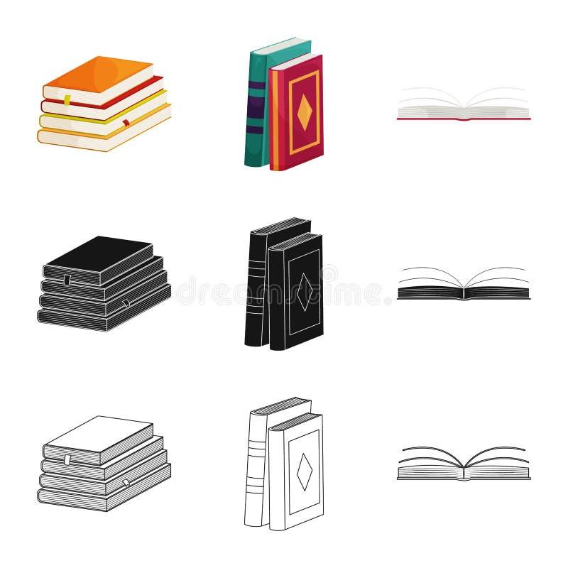 Wektorowa ilustracja szkolenia i pokrywy ikona Set szkolenie i bookstore wektorowa ikona dla zapasu ilustracji