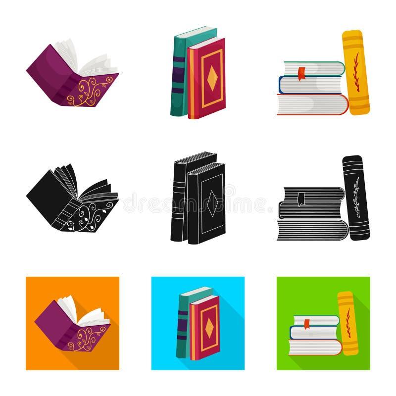 Wektorowa ilustracja szkolenia i pokrywy logo Kolekcja szkolenie i bookstore akcyjna wektorowa ilustracja ilustracja wektor