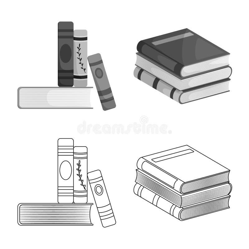 Wektorowa ilustracja szkolenia i pokrywy logo Kolekcja szkolenie i bookstore akcyjna wektorowa ilustracja royalty ilustracja