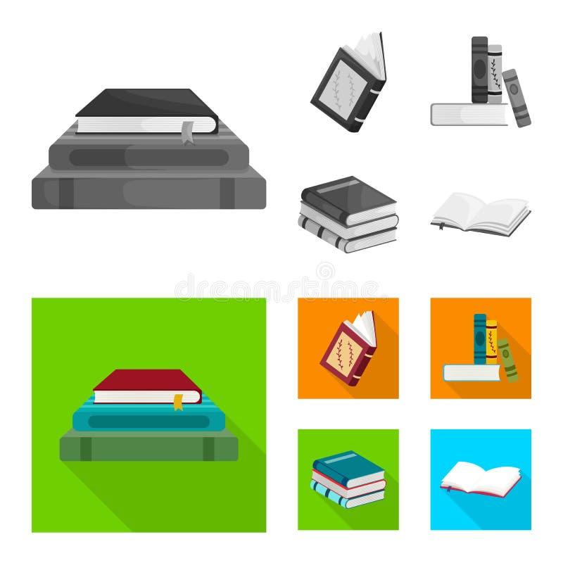 Wektorowa ilustracja szkolenia i pokrywy logo Kolekcja szkolenie i bookstore akcyjny symbol dla sieci royalty ilustracja