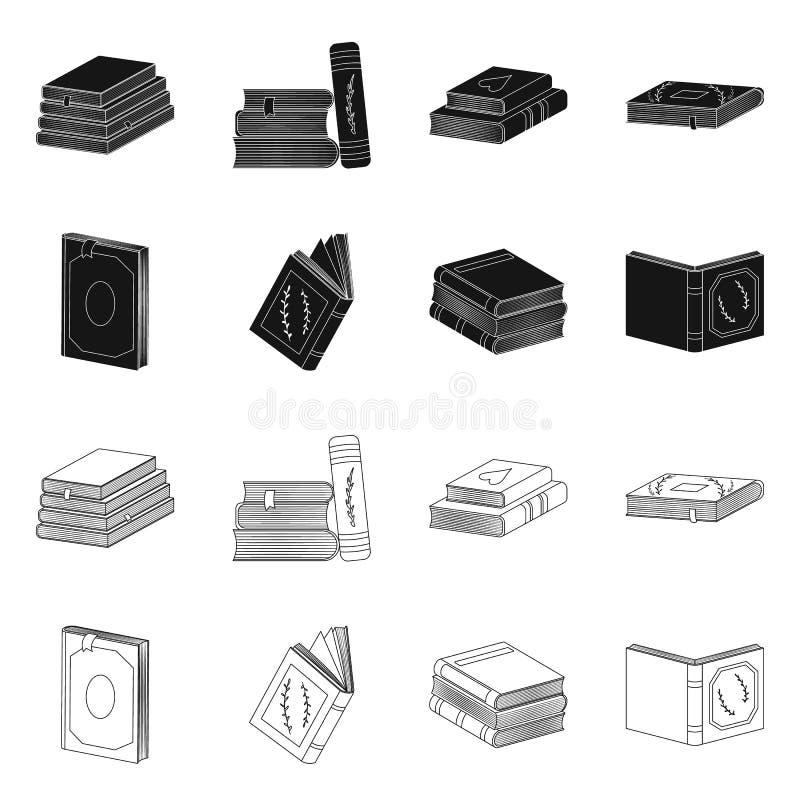 Wektorowa ilustracja szkolenia i pokrywy logo Kolekcja szkolenie i bookstore akcyjny symbol dla sieci ilustracja wektor