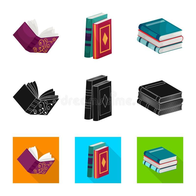 Wektorowa ilustracja szkolenia i pokrywy logo Kolekcja szkolenie i bookstore wektorowa ikona dla zapasu ilustracja wektor