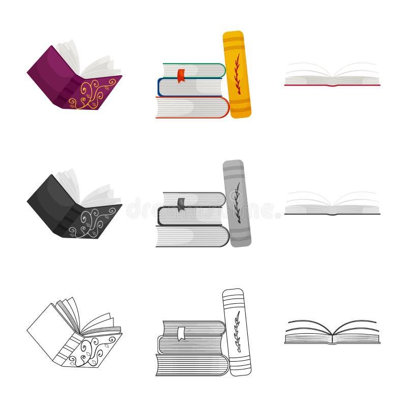 Wektorowa ilustracja szkolenia i pokrywy logo Set szkolenie i bookstore akcyjna wektorowa ilustracja ilustracja wektor