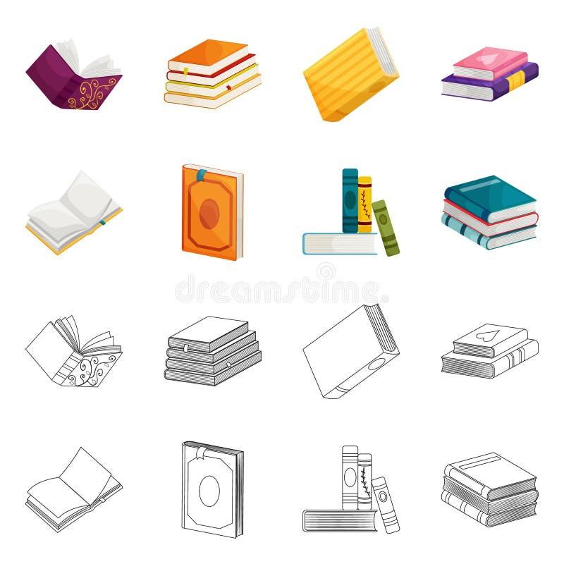 Wektorowa ilustracja szkolenia i pokrywy logo Set szkolenie i bookstore akcyjna wektorowa ilustracja royalty ilustracja