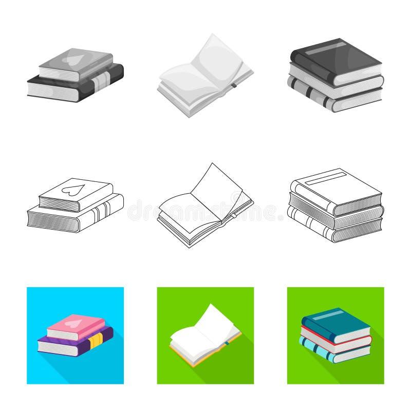 Wektorowa ilustracja szkolenia i pokrywy logo Set szkolenie i bookstore akcyjna wektorowa ilustracja ilustracji