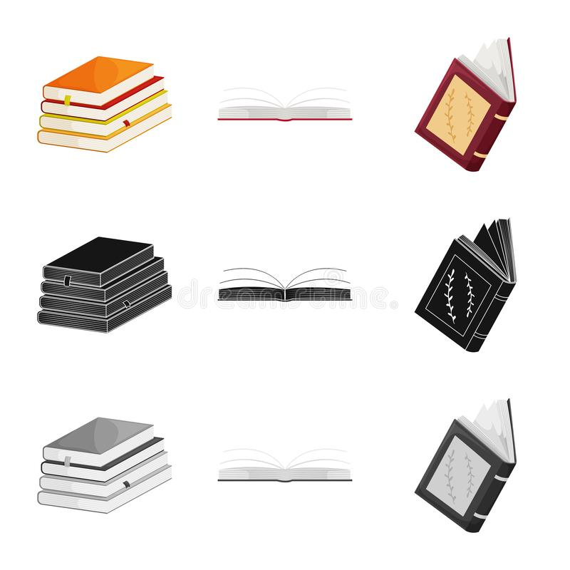 Wektorowa ilustracja szkolenia i pokrywy logo Set szkolenie i bookstore akcyjny symbol dla sieci ilustracja wektor