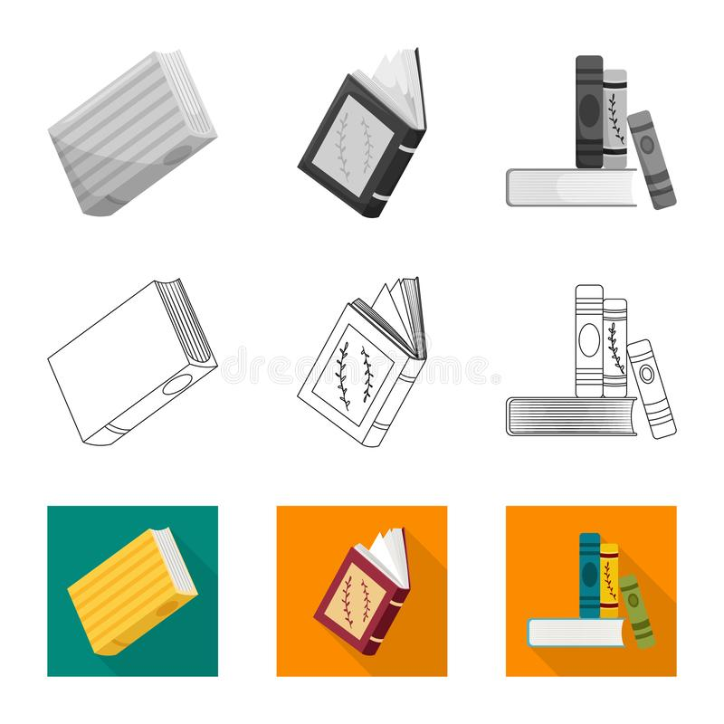 Wektorowa ilustracja szkolenia i pokrywy logo Set szkolenie i bookstore akcyjny symbol dla sieci royalty ilustracja