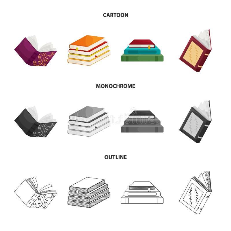 Wektorowa ilustracja szkolenia i pokrywy logo Set szkolenie i bookstore wektorowa ikona dla zapasu royalty ilustracja