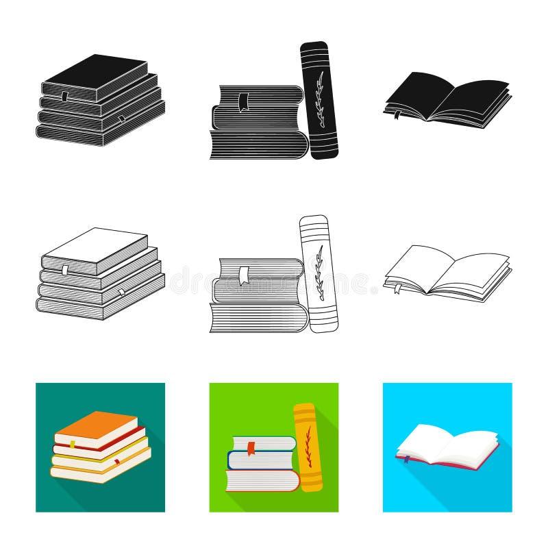 Wektorowa ilustracja szkolenia i pokrywy logo Set szkolenie i bookstore wektorowa ikona dla zapasu ilustracji