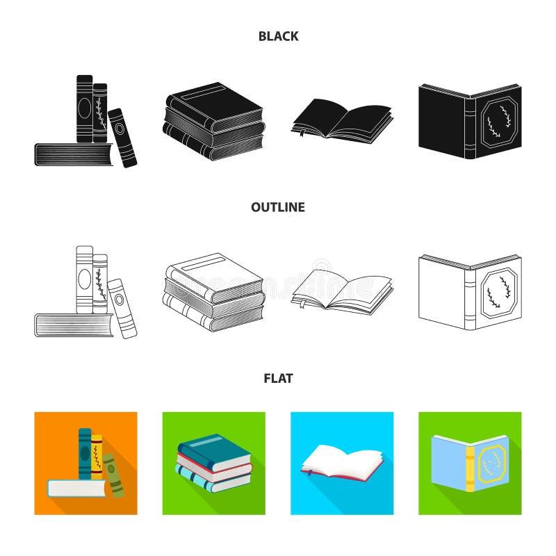 Wektorowa ilustracja szkolenia i pokrywy symbol Kolekcja szkolenie i bookstore akcyjna wektorowa ilustracja ilustracji