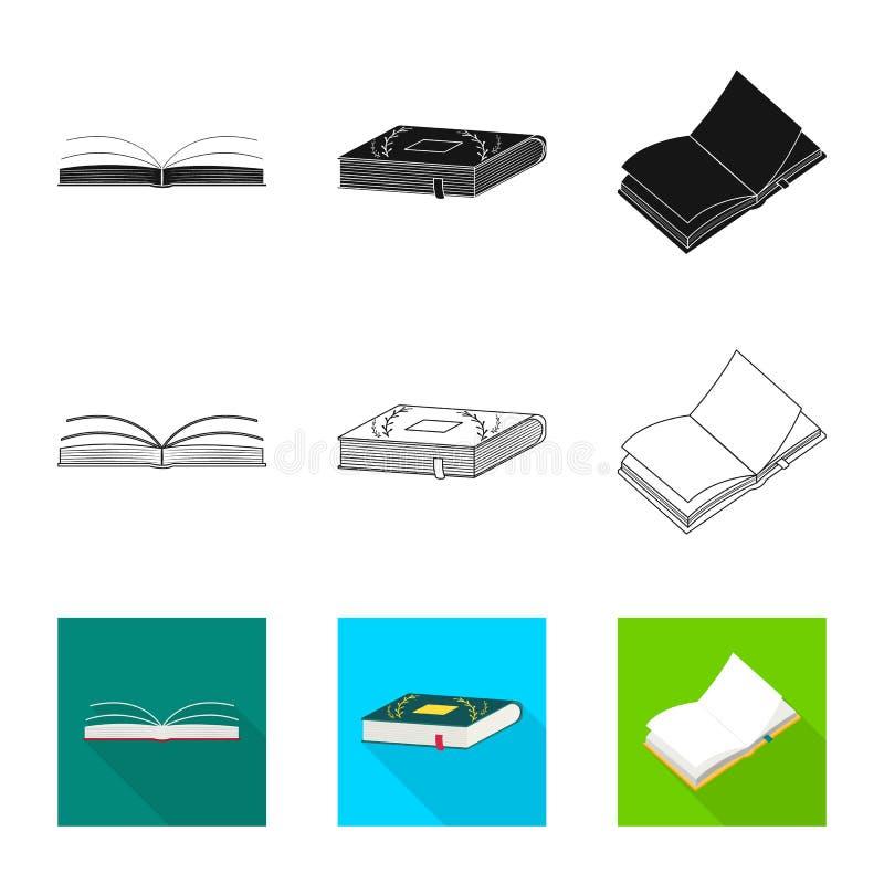 Wektorowa ilustracja szkolenia i pokrywy symbol Kolekcja szkolenie i bookstore akcyjny symbol dla sieci ilustracja wektor