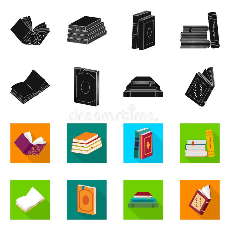 Wektorowa ilustracja szkolenia i pokrywy symbol Kolekcja szkolenie i bookstore akcyjny symbol dla sieci royalty ilustracja