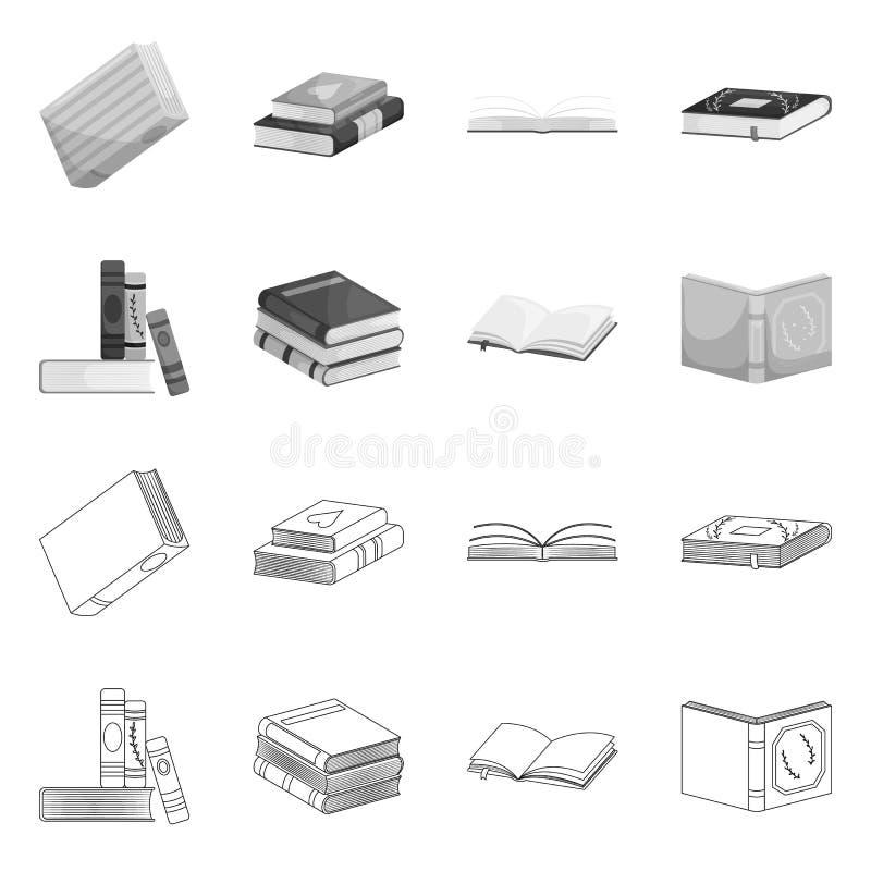 Wektorowa ilustracja szkolenia i pokrywy symbol Kolekcja szkolenie i bookstore wektorowa ikona dla zapasu royalty ilustracja