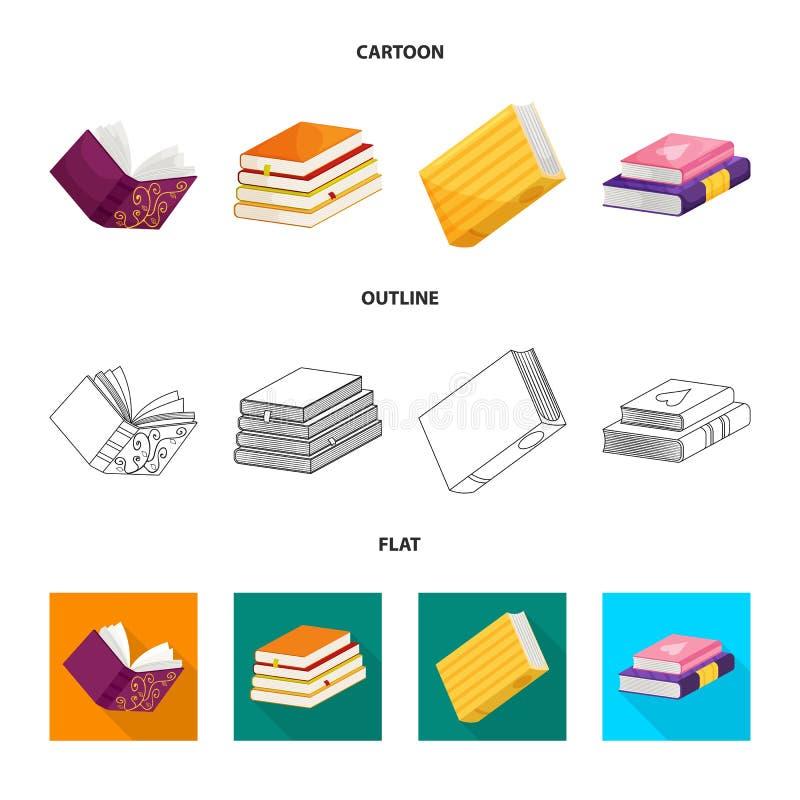 Wektorowa ilustracja szkolenia i pokrywy symbol Kolekcja szkolenie i bookstore wektorowa ikona dla zapasu ilustracji