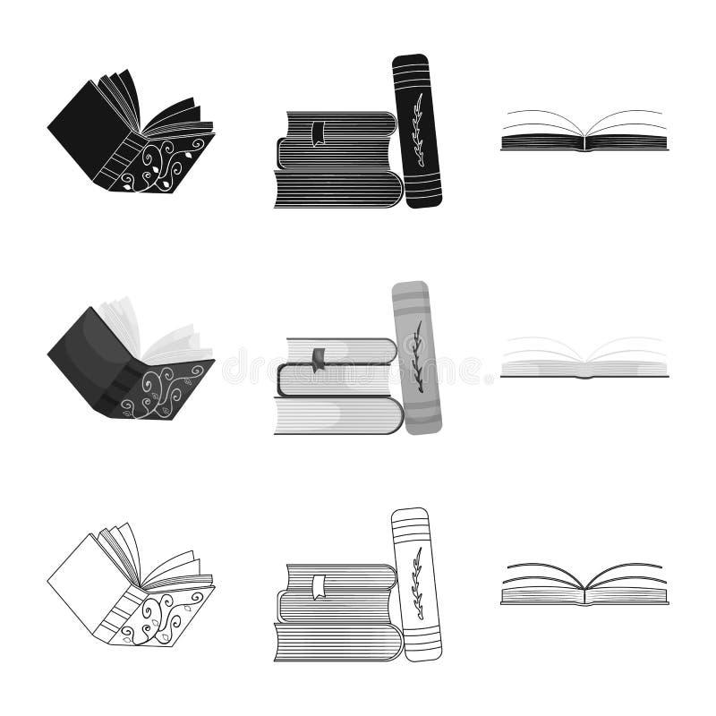 Wektorowa ilustracja szkolenia i pokrywy symbol Set szkolenie i bookstore akcyjna wektorowa ilustracja ilustracja wektor