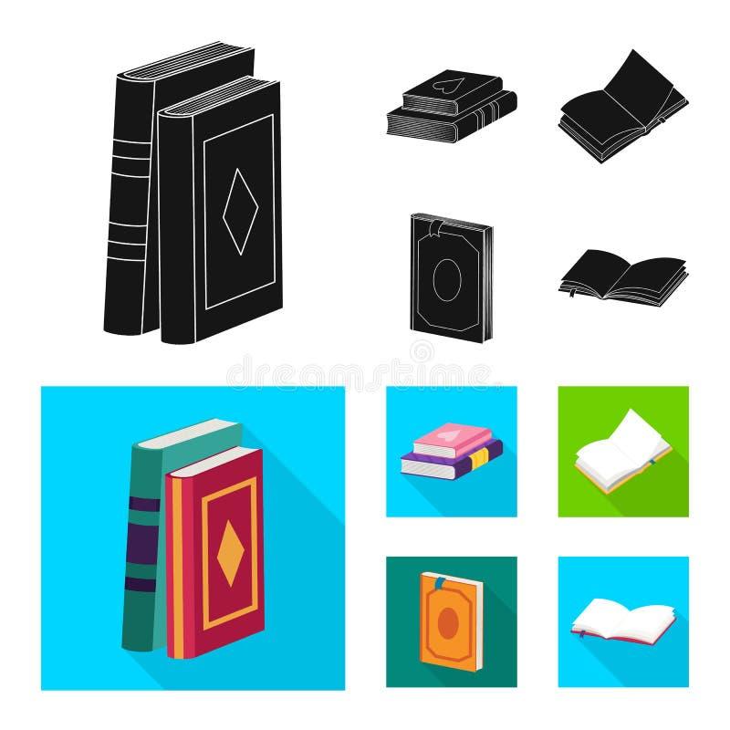 Wektorowa ilustracja szkolenia i pokrywy symbol Set szkolenie i bookstore wektorowa ikona dla zapasu royalty ilustracja