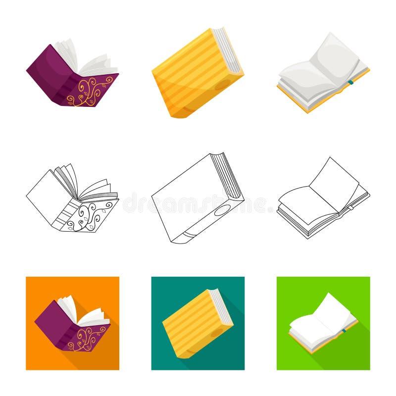 Wektorowa ilustracja szkolenia i pokrywy symbol Set szkolenie i bookstore wektorowa ikona dla zapasu ilustracja wektor