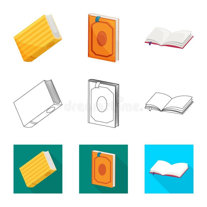 Wektorowa ilustracja szkolenia i pokrywy symbol Set szkolenie i bookstore wektorowa ikona dla zapasu ilustracji
