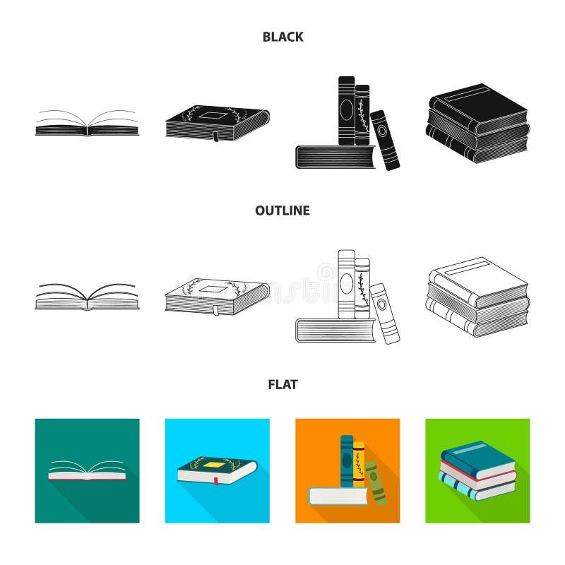 Wektorowa ilustracja szkolenia i pokrywy znak Kolekcja szkolenie i bookstore akcyjna wektorowa ilustracja royalty ilustracja