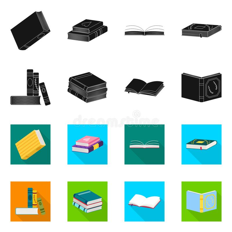 Wektorowa ilustracja szkolenia i pokrywy znak Kolekcja szkolenie i bookstore akcyjny symbol dla sieci ilustracji