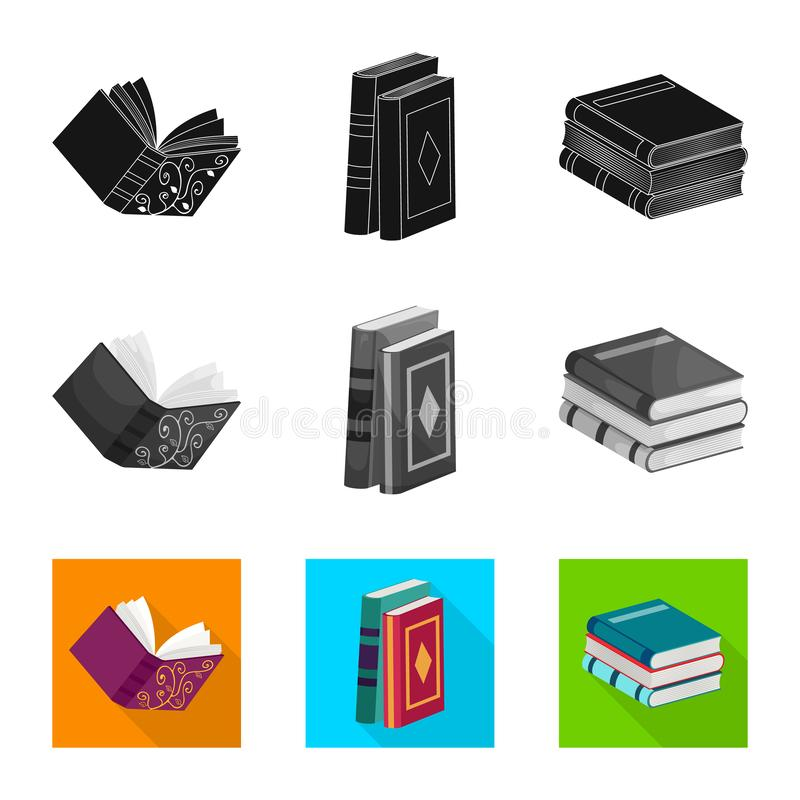 Wektorowa ilustracja szkolenia i pokrywy znak Kolekcja szkolenie i bookstore akcyjny symbol dla sieci royalty ilustracja