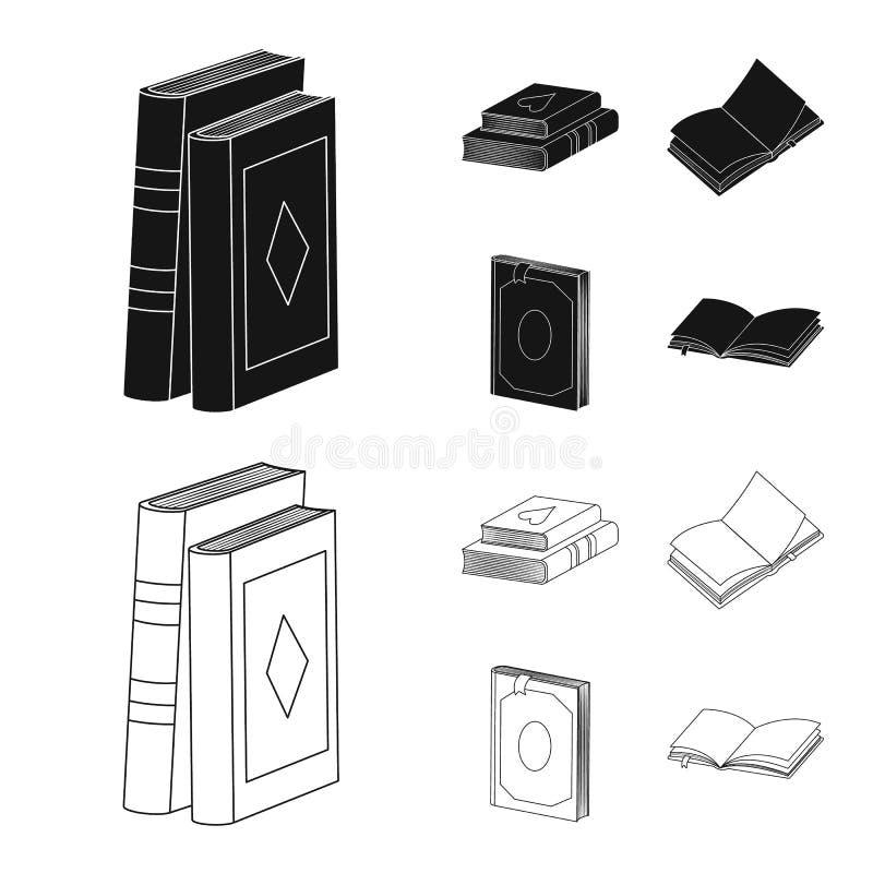 Wektorowa ilustracja szkolenia i pokrywy znak Kolekcja szkolenie i bookstore wektorowa ikona dla zapasu ilustracja wektor