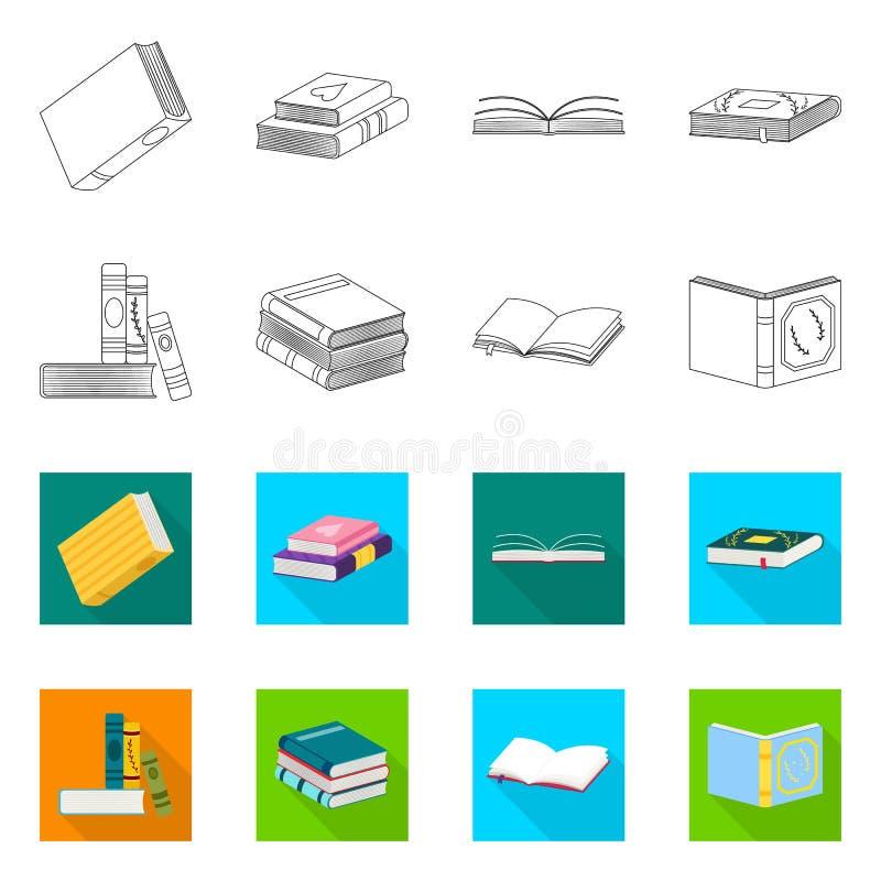 Wektorowa ilustracja szkolenia i pokrywy znak Kolekcja szkolenie i bookstore wektorowa ikona dla zapasu royalty ilustracja