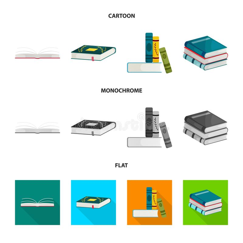Wektorowa ilustracja szkolenia i pokrywy znak Set szkolenie i bookstore akcyjna wektorowa ilustracja royalty ilustracja
