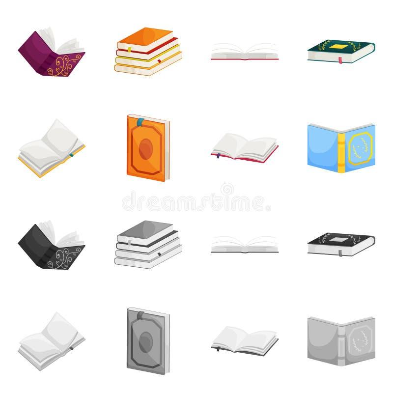 Wektorowa ilustracja szkolenia i pokrywy znak Set szkolenie i bookstore akcyjna wektorowa ilustracja ilustracja wektor