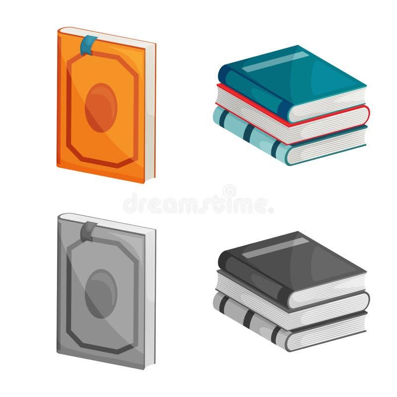 Wektorowa ilustracja szkolenia i pokrywy znak Set szkolenie i bookstore akcyjny symbol dla sieci ilustracji