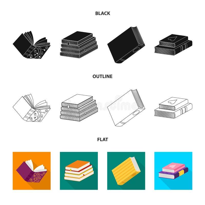 Wektorowa ilustracja szkolenia i pokrywy znak Set szkolenie i bookstore akcyjny symbol dla sieci royalty ilustracja