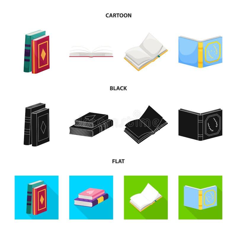 Wektorowa ilustracja szkolenia i pokrywy znak Set szkolenie i bookstore akcyjny symbol dla sieci ilustracja wektor