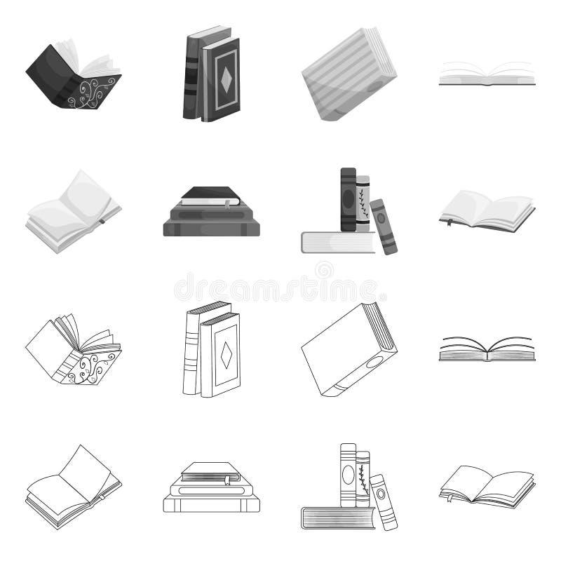 Wektorowa ilustracja szkolenia i pokrywy znak Set szkolenie i bookstore wektorowa ikona dla zapasu royalty ilustracja