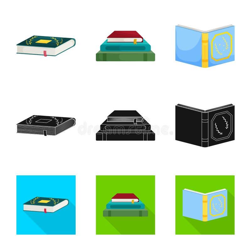 Wektorowa ilustracja szkolenia i pokrywy znak Set szkolenie i bookstore wektorowa ikona dla zapasu ilustracji