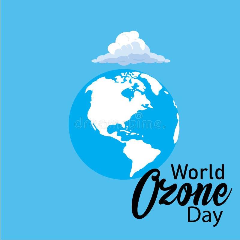Wektorowa ilustracja sztandar dla Światowego ozonu dnia ()- Wektor kartoteka ilustracja wektor