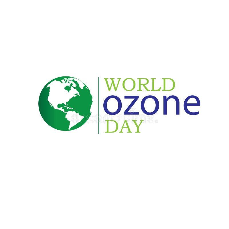 Wektorowa ilustracja sztandar dla Światowego ozonu dnia ()- Wektor kartoteka royalty ilustracja
