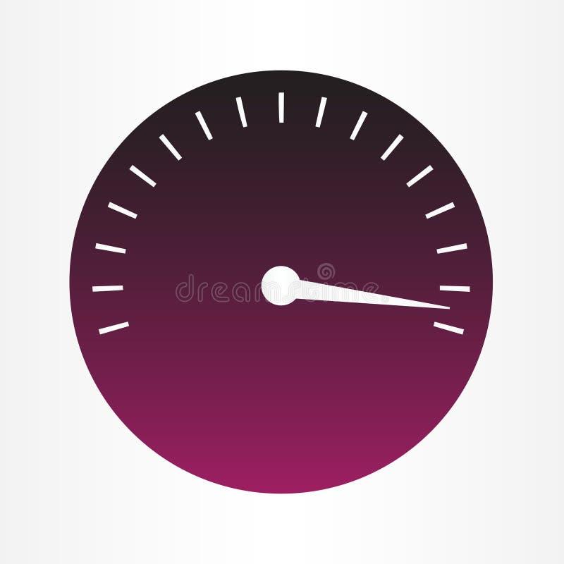 Wektorowa ilustracja szybkościomierzy wymierniki w purpurach barwi ilustracji