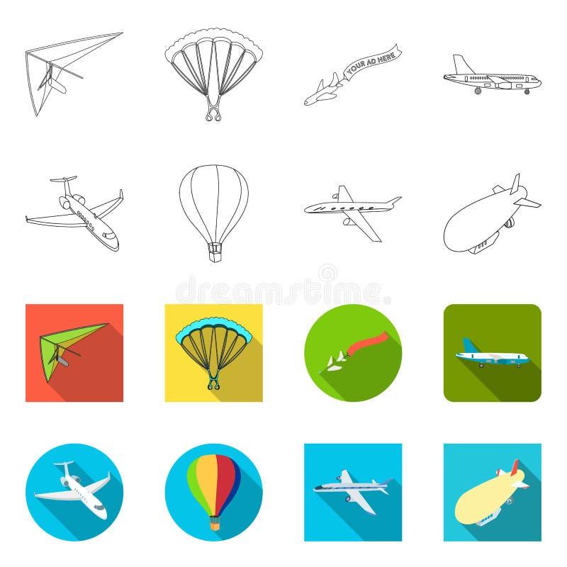 Wektorowa ilustracja transportu i przedmiota logo Kolekcja transport i szybownictwo akcyjna wektorowa ilustracja royalty ilustracja