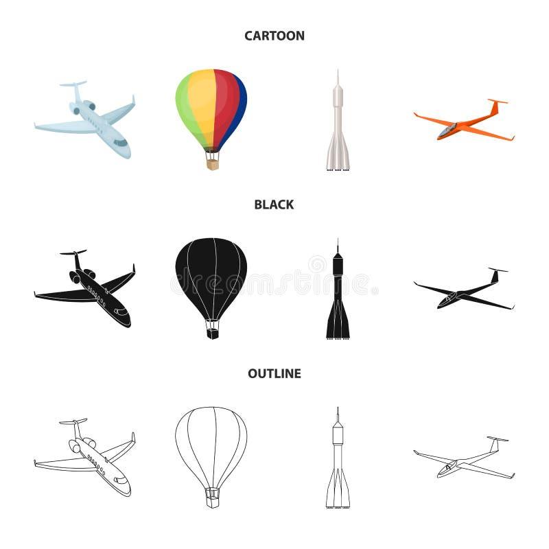 Wektorowa ilustracja transportu i przedmiota logo Kolekcja transport i szybownicza wektorowa ikona dla zapasu ilustracja wektor