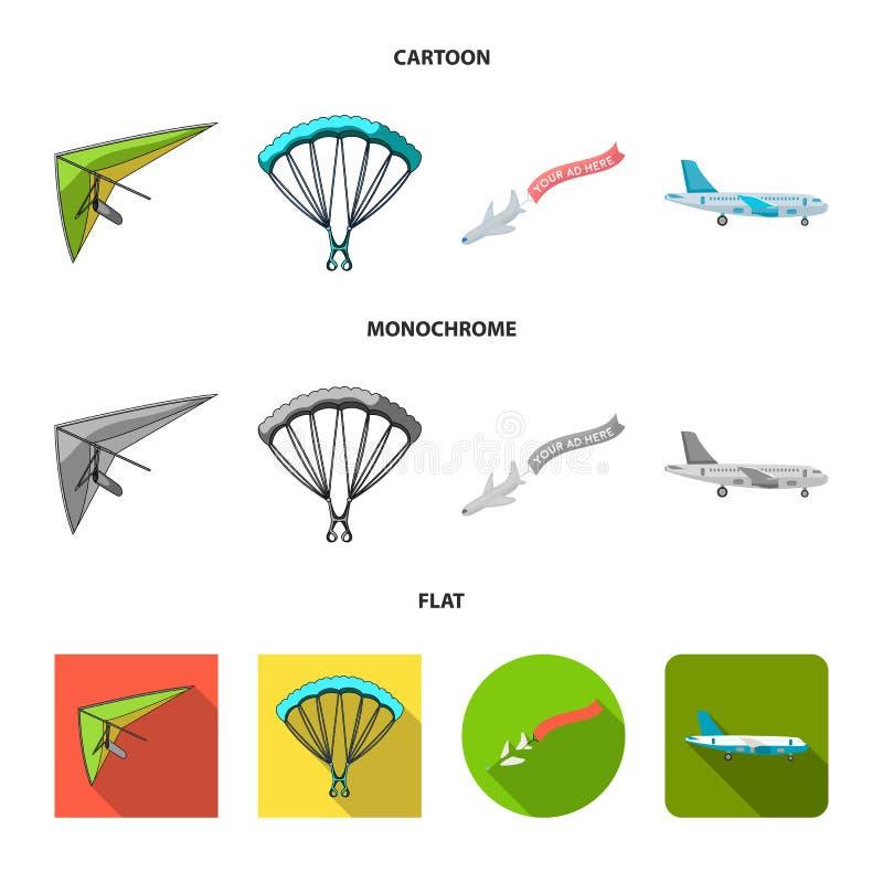 Wektorowa ilustracja transportu i przedmiota symbol Kolekcja transport i szybownicza wektorowa ikona dla zapasu ilustracji