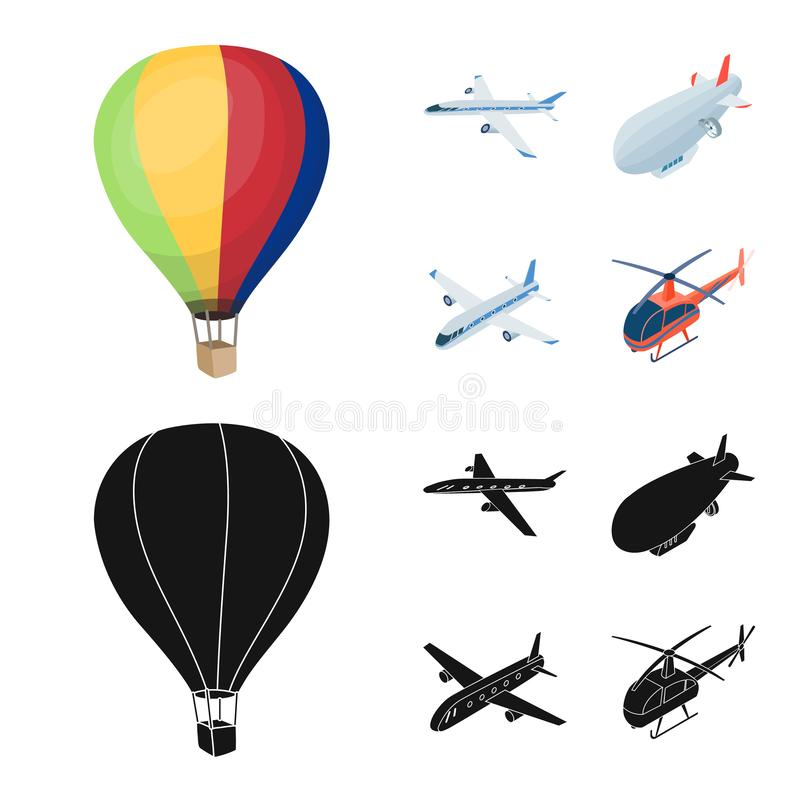 Wektorowa ilustracja transportu i przedmiota symbol Set transport i szybownicza wektorowa ikona dla zapasu ilustracja wektor