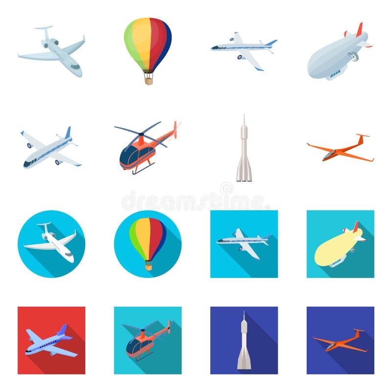 Wektorowa ilustracja transportu i przedmiota znak Kolekcja transport i szybownicza wektorowa ikona dla zapasu ilustracji