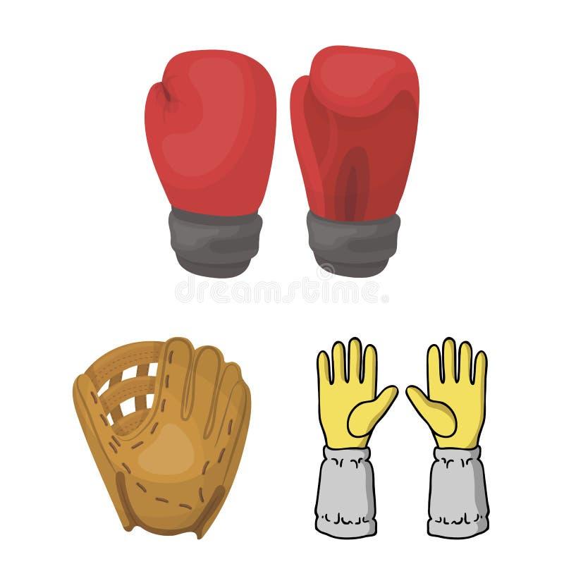 Wektorowa ilustracja trykotowy i pastuch logo Kolekcja trykotowa i ręka wektorowa ikona dla zapasu ilustracji