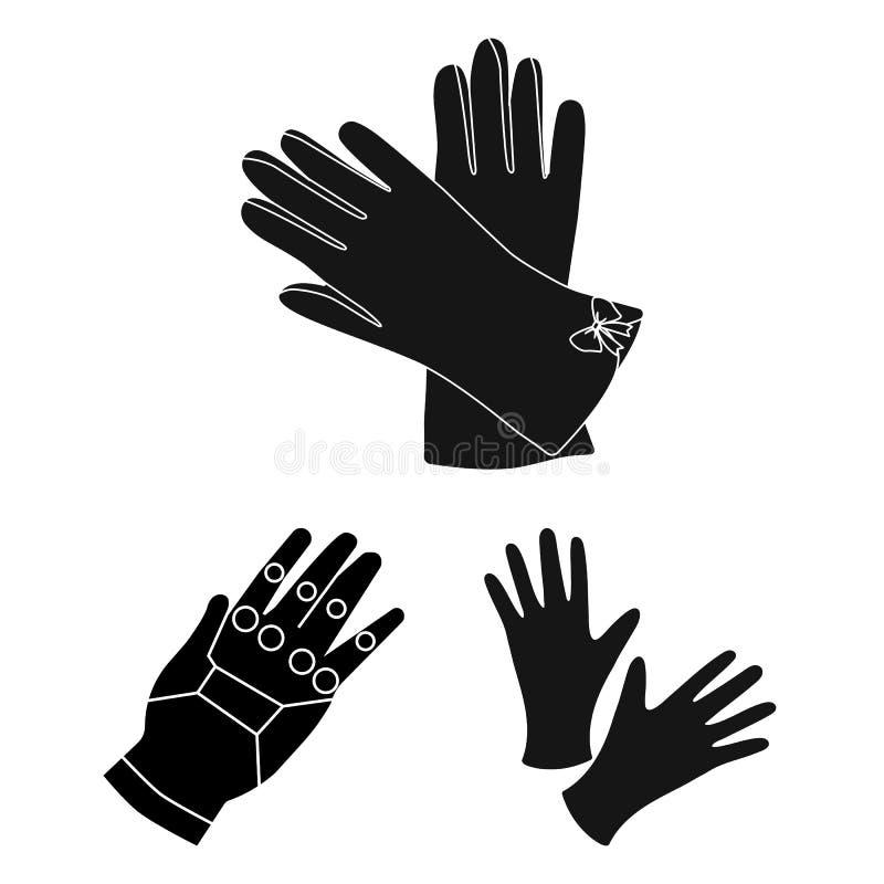 Wektorowa ilustracja trykotowy i pastuch logo Set trykotowa i ręka wektorowa ikona dla zapasu ilustracji