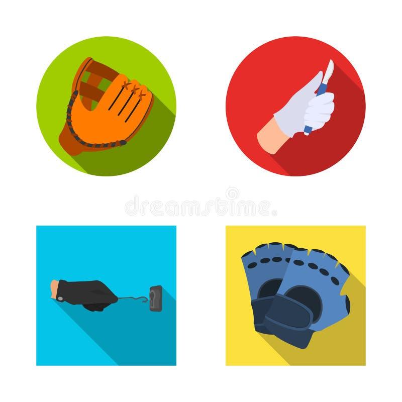 Wektorowa ilustracja trykotowy i pastuch znak Set trykotowa i ręka akcyjna wektorowa ilustracja ilustracja wektor