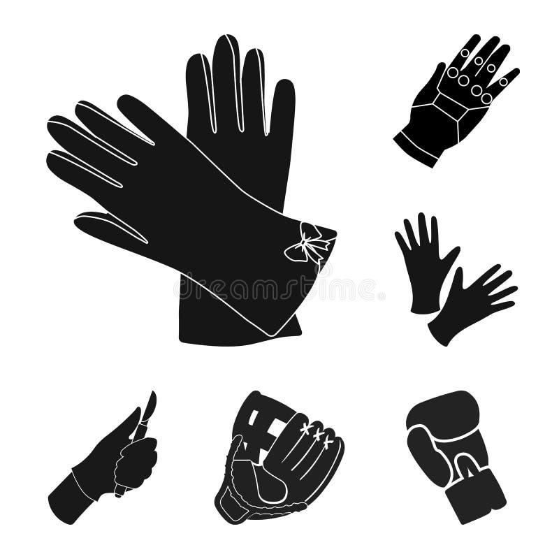Wektorowa ilustracja trykotowy i pastuch znak Set trykotowa i ręka wektorowa ikona dla zapasu ilustracji