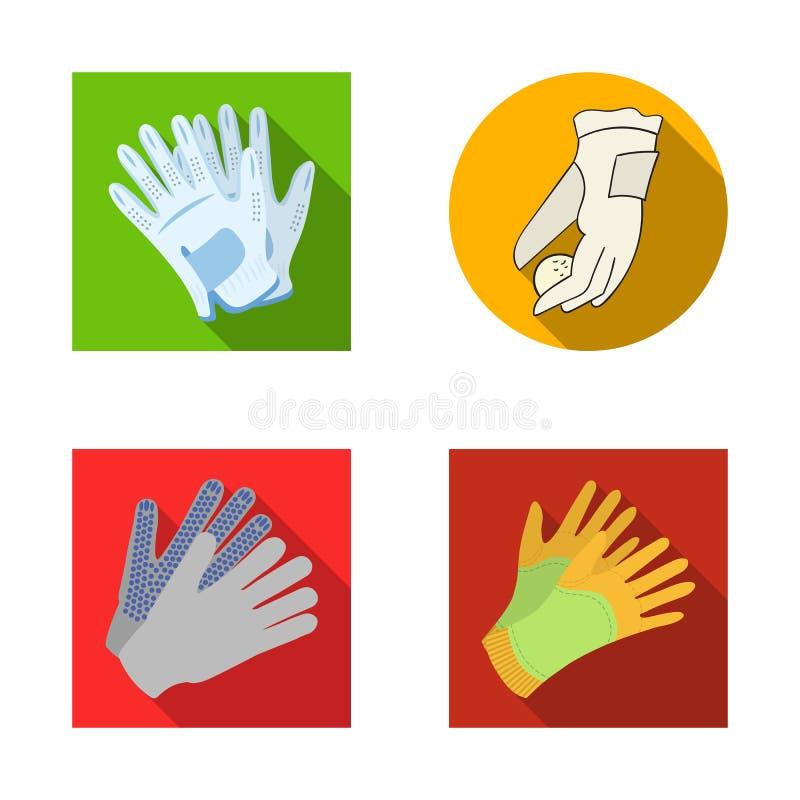 Wektorowa ilustracja trykotowy i pastuch znak Set trykotowa i ręka wektorowa ikona dla zapasu ilustracja wektor
